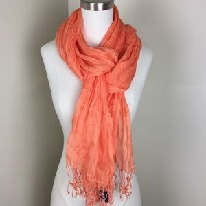 Accessories - NWT Coral Pleated Scarf Shawl